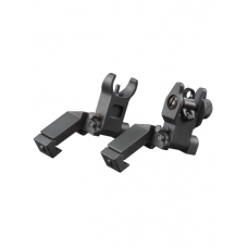 AR LOW PROFILE 45 DEGREE FRONT & REAR FLIP UP SIGHTS: *MT45FS
